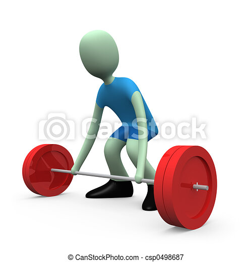 Sports - Weight-lifting #1 - csp0498687
