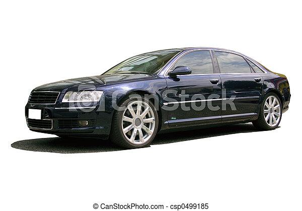 bil, svart,  sports - csp0499185