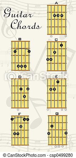 guitar chords - csp0499280