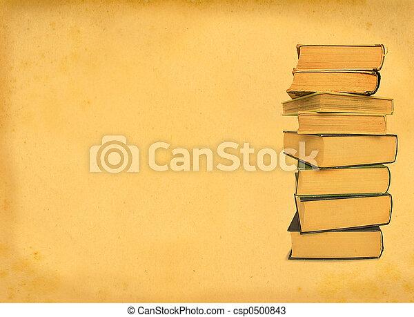antique books on retro background - csp0500843