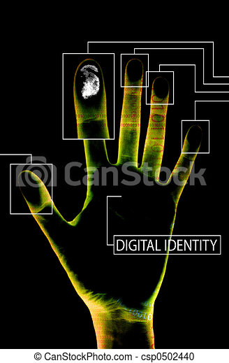 digital identity black - csp0502440