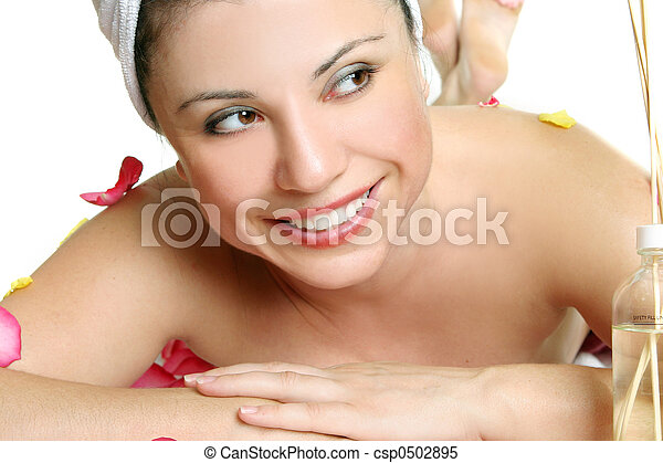Replenish your body and soul at a day spa - csp0502895