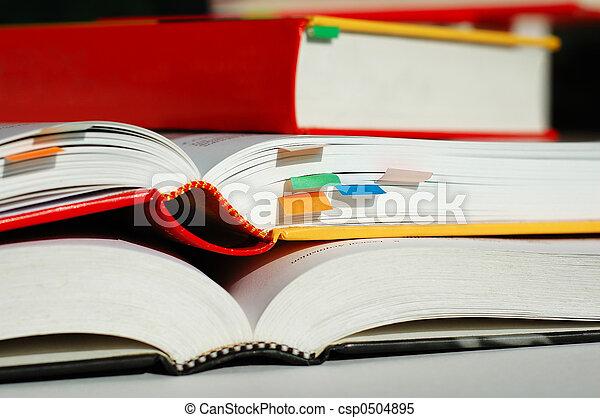 Piled books - csp0504895
