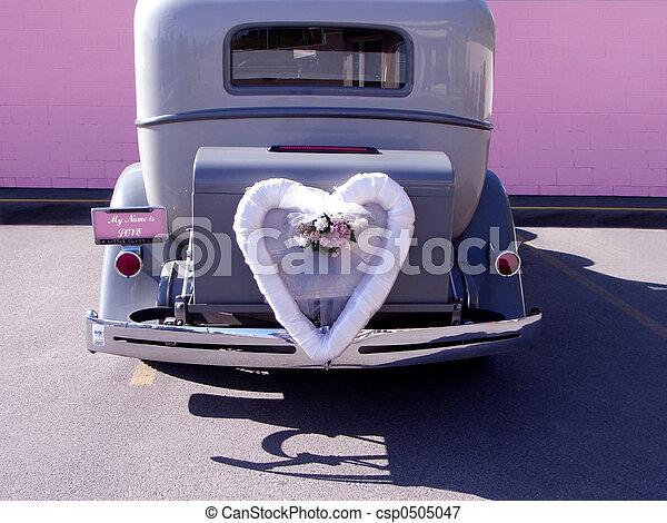 bil, bröllop - csp0505047
