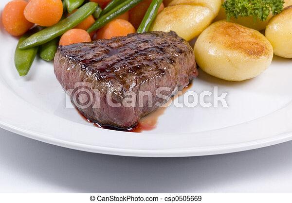 juicy steak medium - csp0505669