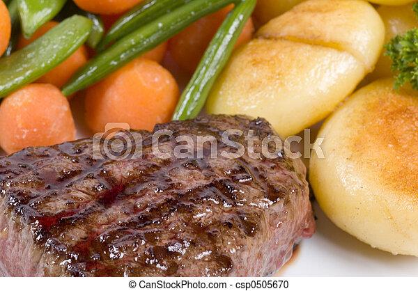 close-up of steak - csp0505670