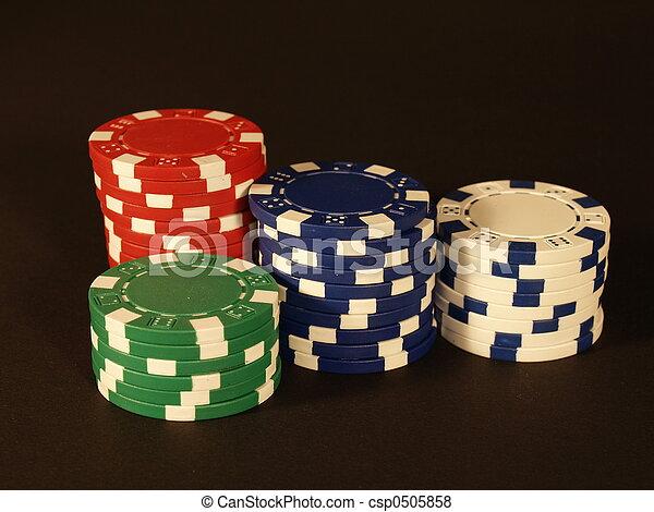 Stock Photo - Poker chips