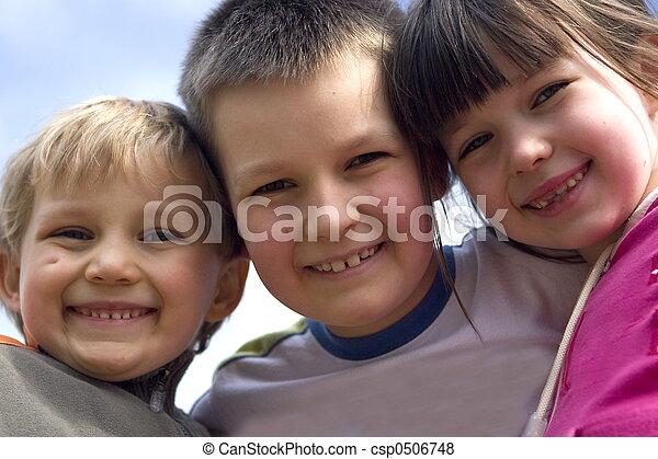 Lächeln, Kinder - csp0506748