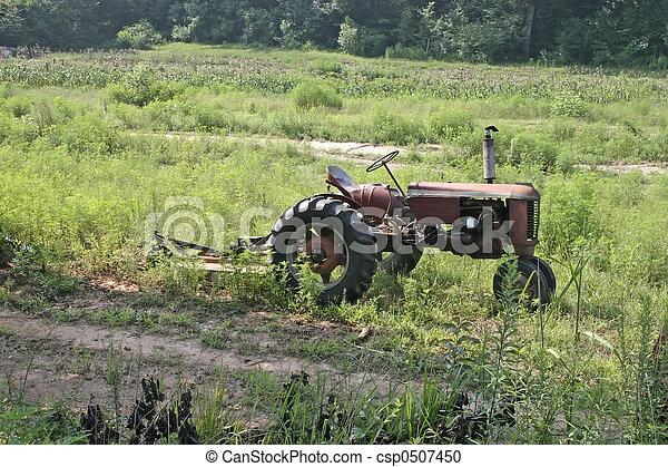 vintage farming tractor - csp0507450