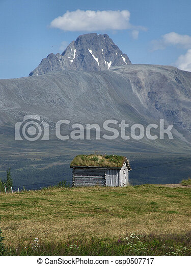 Mountain cabin in Scandinavia - csp0507717