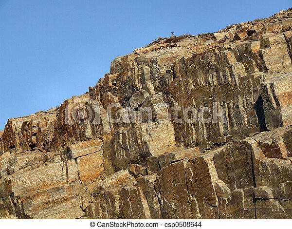 Rocky landscape - bare stone wall - csp0508644