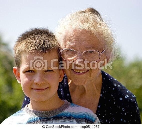 boy with grandma - csp0511257