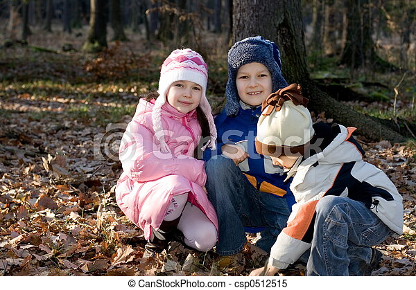 children in forest - csp0512515