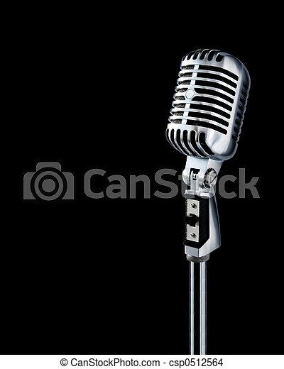 Retro Microphone - csp0512564