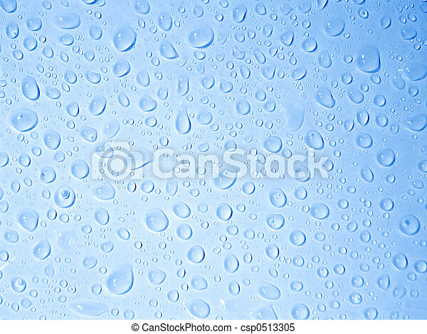 Crystal clear water drops
