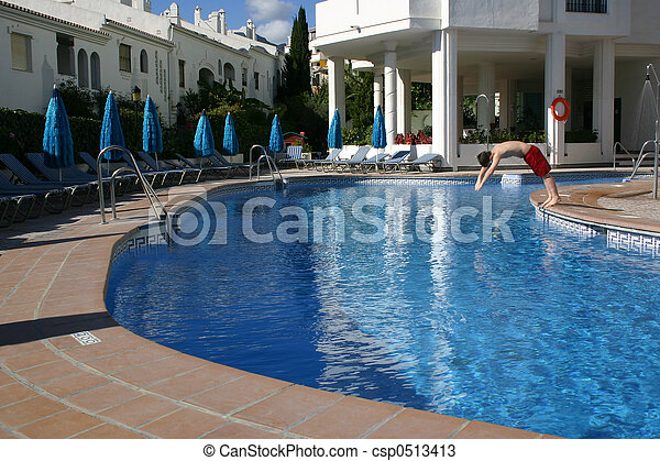 Stock Photos Of Person Diving Into A Swimming Pool View Of A Swimming Pool Csp0513413