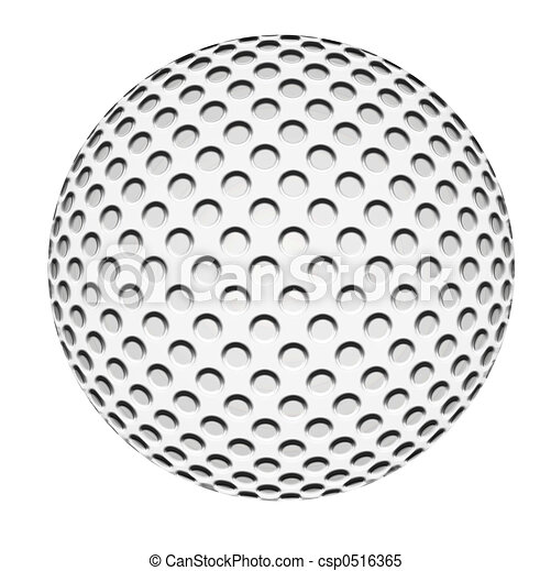 Golf Ball Isolated - csp0516365