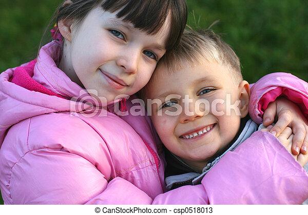 crianças, feliz - csp0518013
