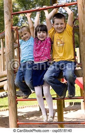 Kinder, glücklich - csp0518140