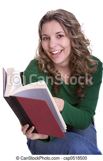 Girl Reading - csp0518500