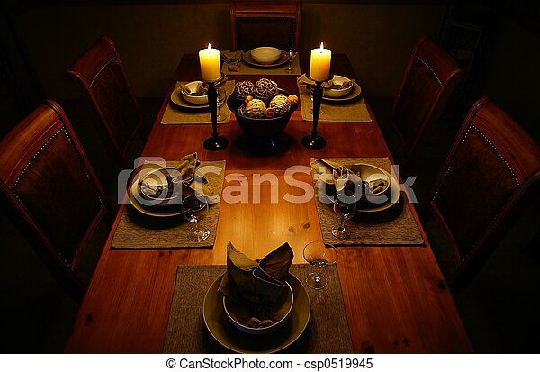 Candlelight dinner - csp0519945
