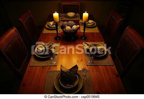 Candlelight dinner - csp0519945