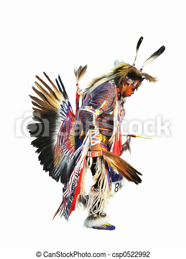 Clip Art of Sundancer - digital painting of a native american ...