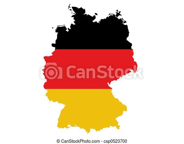 Germany map - csp0523700