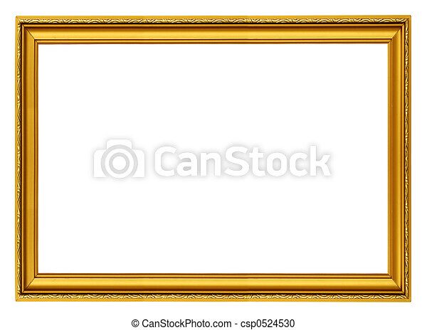 golden horizontal frame - csp0524530