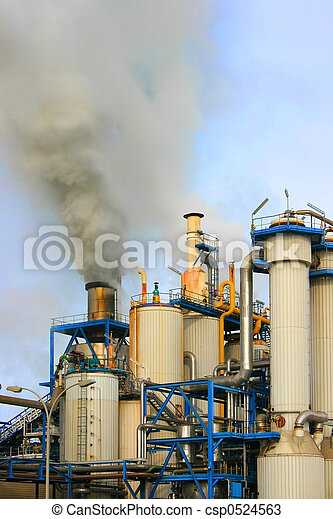 Industrial pollution - csp0524563