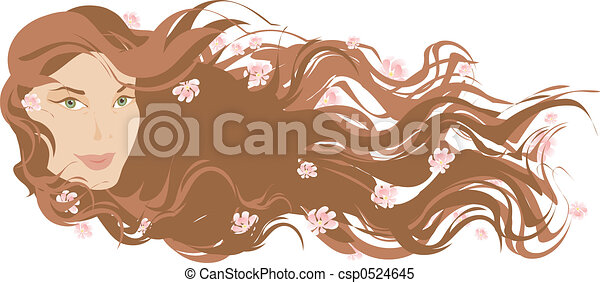Long hair - csp0524645