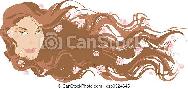 Long hair - csp0524645