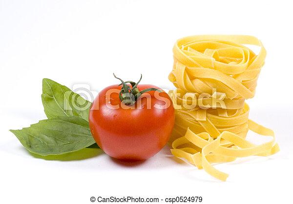 pasta and garnish - csp0524979