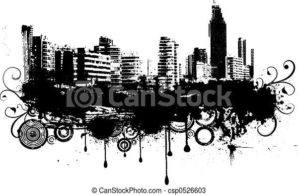 Arte Urbano Logo Urbano Grunge Csp0526603