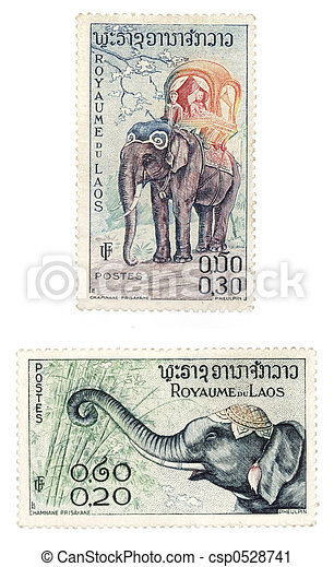Laos post stamps - csp0528741