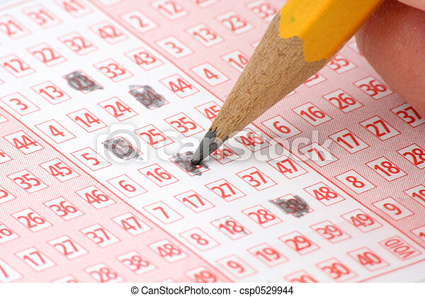 Lottery Ticket and pencil - csp0529944