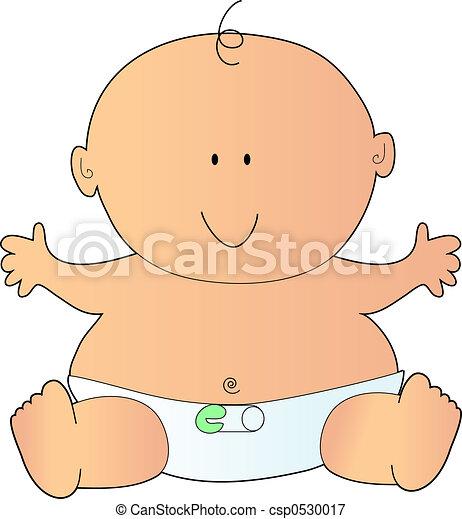 Stock de ilustraciones de reci n nacido beb en un for Recien nacido dibujo