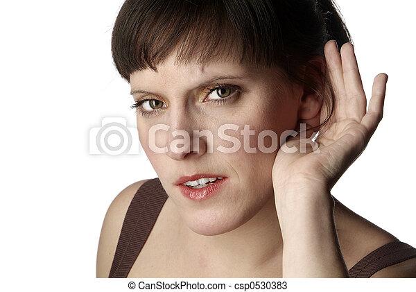 listening woman - csp0530383