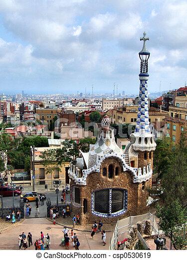 Barcelona landmark - Park Guell - csp0530619