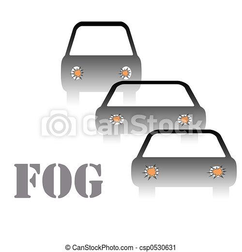 fog warning sign - csp0530631