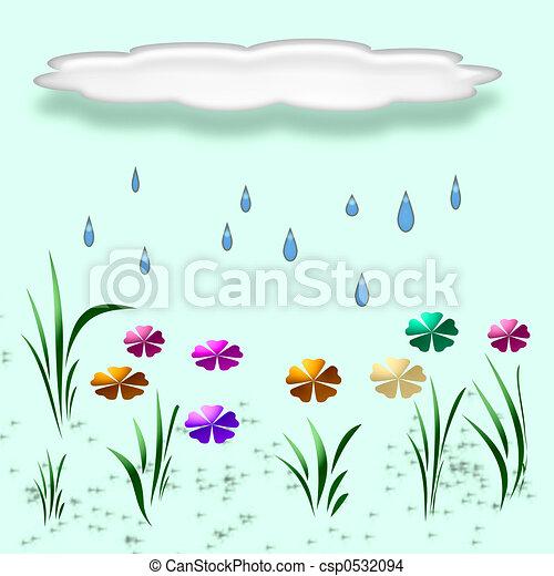 spring rain illustra - csp0532094