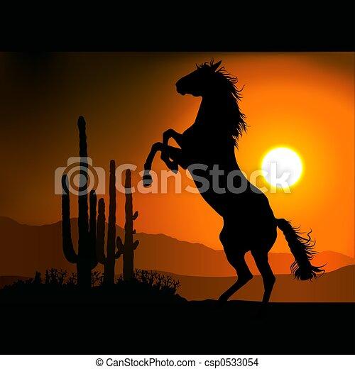 Horse Silhouette A - csp0533054