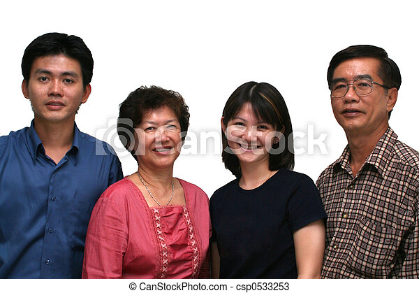 Happy Asian Family - csp0533253