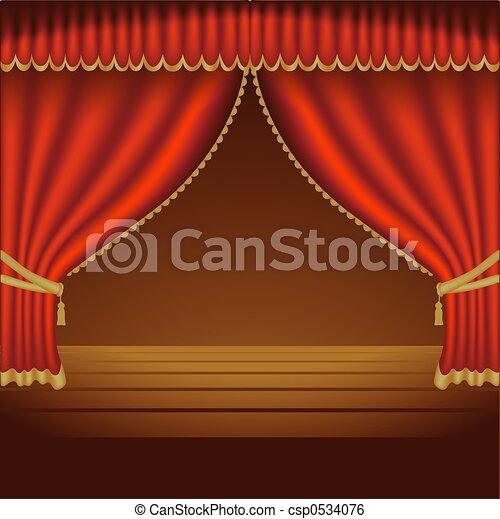 Theatre Courtains 01 - csp0534076