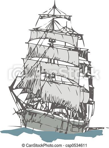 Clipart de voilier vieux voilier csp0534611 recherchez des clip art des dessins et des - Voilier dessin ...