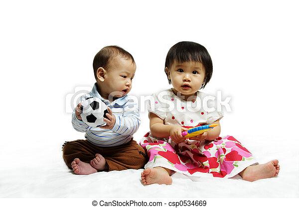 Kinder, glücklich - csp0534669
