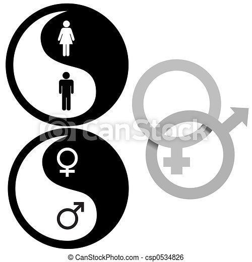 Yin Yang Male Female Symbols - csp0534826