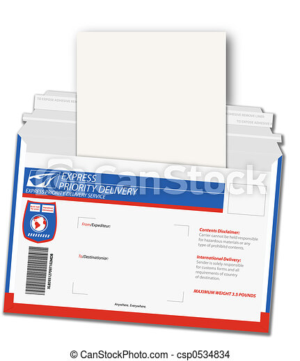 Express Delivery Letter - csp0534834