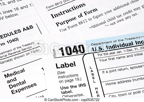 tax forms - csp0535722