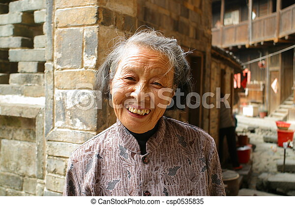 Elderly Chinese people - csp0535835